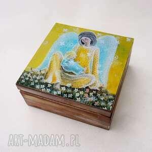 prezent na święta, szkatułka - matka, szkatułka, anioł, pudełko, dzień