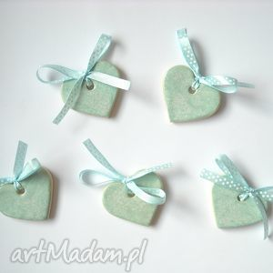 ceramika ceramiczne serca - zawieszki choinkowe, zawieszki, święta