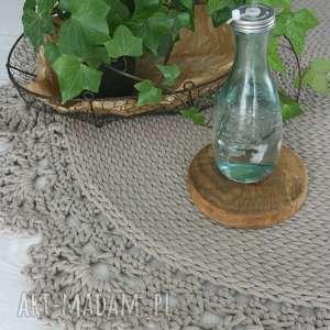 dywan bawełniany z koronką 120 cm, dywan, carpet