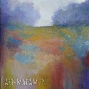 Obraz olejny IMPRESJA III format 30/30 cm, obraz, łąka, impresja, olejny, abstrakcja