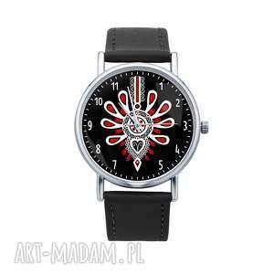 hand-made zegarki zegarek z grafiką góralska parzenica