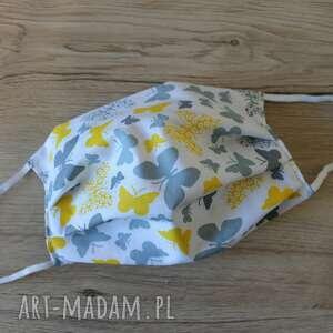 maseczka bawełniana - motylki, maska, maseczka, maseczki, kolorowe maseczki