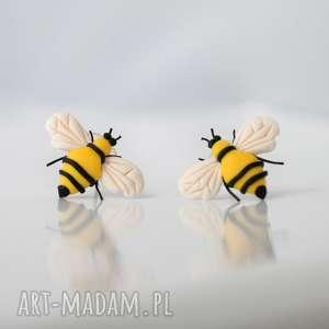 Pszczoły - wyjątkowe kolczyki wkręty, pszczoła, pszczoły, kolczyki, zwierzę