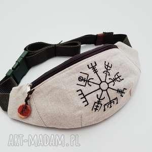 nerka lniana kompas wikingów - ,nerka,len,lniana,haft,kompas,góry,
