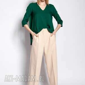 spodnie luźne - sd111 beż, do pracy, szkoły, beż, lużne, eleganckie