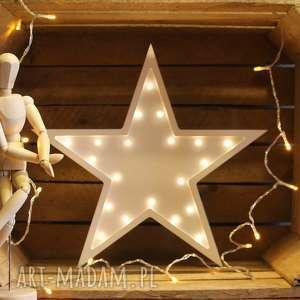 oryginalne prezenty, pokoik dziecka podświetlana gwiazdka, lampka, literka, światło