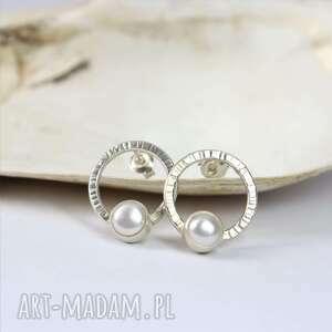 Kolczyki sztyfty eleganckie z perłami magdalena golba perła
