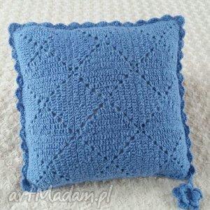 Poduszka wykonana ręcznie WEŁNA 45x45 cm 1szt, poduszki, poduszka, wełna, poszewka