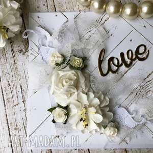 Prezent Romantyczny Ślub , ślub, para, młoda, prezent, kartka, okolicznościowa