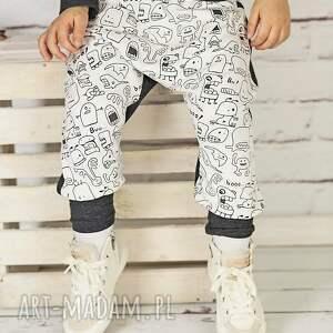 ubranka spodnie duszki-grafit ze ściągaczami, bawełna, ściągacz, duszki, ciepło