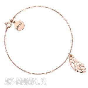 bransoletka z różowego złota ze skrzydełkiem motyla, bransoletka, modowa, różowe