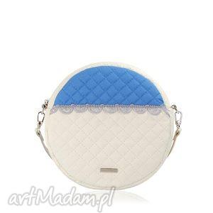 torebka pikowana okrągła veska 595, veska, okrąg, falbanka,