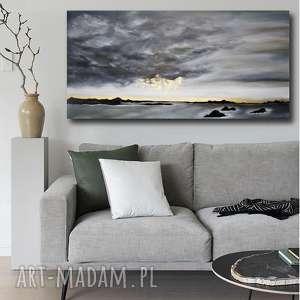 obrazy obraz do salonu - ręcznie malowany - złoty deszcz -abstrakcyjny