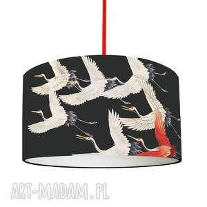 abażur do lampy czarny żurawie