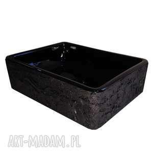 noira - artystyczna umywalka nablatowa ze strukturą, ekskluzywna