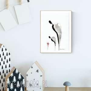 hand-made pokoik dziecka grafika a4 malowana ręcznie, minimalizm, pokoik dziecka