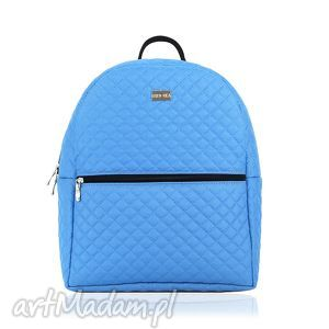 plecak damski 746 niebieski, plecak, damski, pikowany, pakowny, lekki