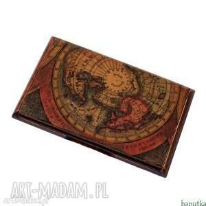 stara mapa - wizytownik, etui na karty płatnicze, prezent, męski, mężczyzna, stylowe