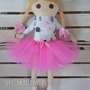 lalki szmaciana laleczka różowe jeże, szmacianka, szmaciana, szyta, lalka, tutu