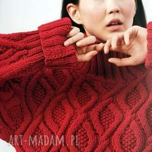 Prezent Sweter Kiruna, sweter, wełniany, dziergany, gruby, prezent, ciepły