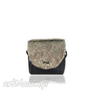 torebka mini puro 842 fur, mini, skórzana, futrzana, wymienne, klapki torebki