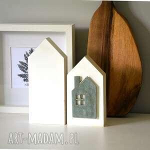 pod choinkę prezent, 2 domki z ceramiką, dekor, ceramiczny, kafelka, ceramika