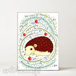 jeżyk a3 - jeż, jeżyk, ziwerzęta, plakat, rysunek, ilustracja