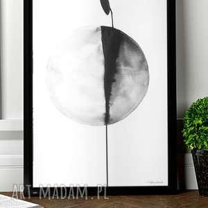 obraz malowany tuszem, plakat skandynawski, abstrakcja, format 30x40