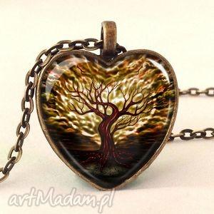 hand made naszyjniki drzewo miłości - medalion z łańcuszkiem