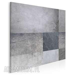 obraz na płótnie - beton minimalizm prostokąty w kwadracie 80x80 cm 73902
