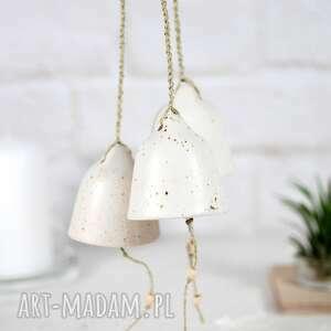 ceramiczny dzwonek - loft, dzwonek świąteczny, dzwonki choinkowe, białe ozdoby