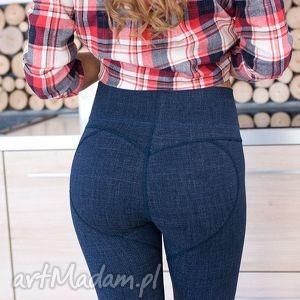 Fajne elastyczne modelujące pupę legginsy spodnie rurki s red