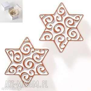 pomysł na prezent świąteczny gwiazdki białe magnesy , gwiazdki, świąteczne, upominek