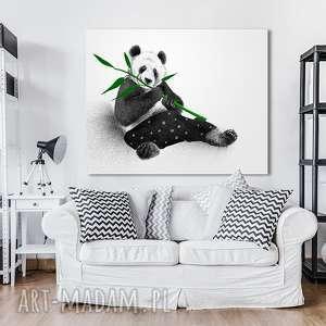 Obraz na płótnie - 100x80cm PANDA wysyłka w 24h 02157, płótno, miś