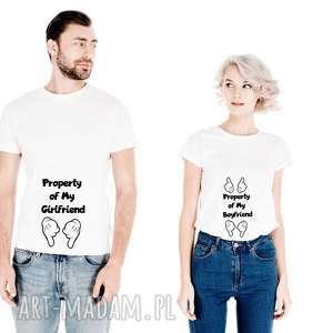 Zestaw Koszulek dla Par Property of My Girlfrend - on od My Boyfrend - ona