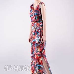Sukienka kopertowa długa wzór sukienki trzyforu sukienki