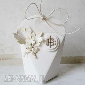 hand-made zaproszenie pudełeczka - podziękowania 10 szt