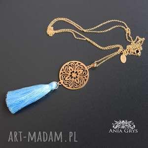 ręcznie wykonane naszyjniki pozłacana arabeska