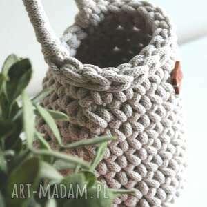 koszyk sakiewka ręcznie robiony na szydełku, koszyk, kosz, ręcznierobione
