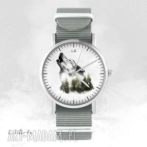 Prezent Zegarek - Wilk szary, nato, zegarek, bransoletka, leśny, wilk