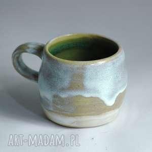 Oryginalny kubek z zaciekami - zielono mi Artystyczna ceramika, kubek, kawa