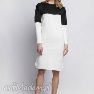 ręcznie wykonane sukienki sukienka, suk107 ecru