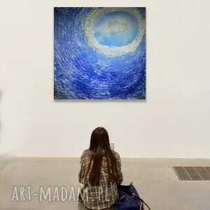 powiew 4, abstrakcja, obraz do salonu, semeniuk, niebieski, malarstwo