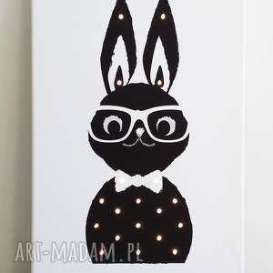 Prezent ŚWIECĄCY OBRAZ KRÓLIK prezent lampa dziecko chłopiec, królik, lampa, obraz