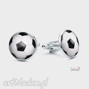 spinki do mankietów football - piłka, sport, chłopak, prezent