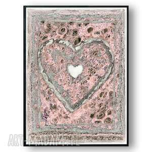 renata bulkszas grafika w ramie prowansalskie serce 30x40, serce