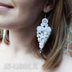 kolczyki ślubne cerine crystal soutache, sutasz, ekskluzywne