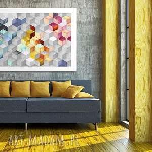 obraz na płótnie - 120x80cm abstrakcja sześciany 02120 wysyłka w 24h