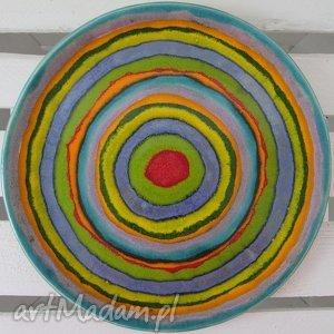 full color patera ceramiczna - ,ceramiczny,talerz,kolorowy,dekoracyjny,parapetówka,