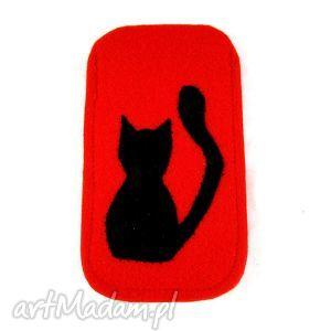 cat in red, filc, etui